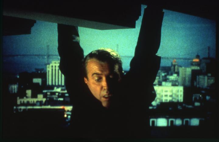 James Stewart in Vertigo (1958)