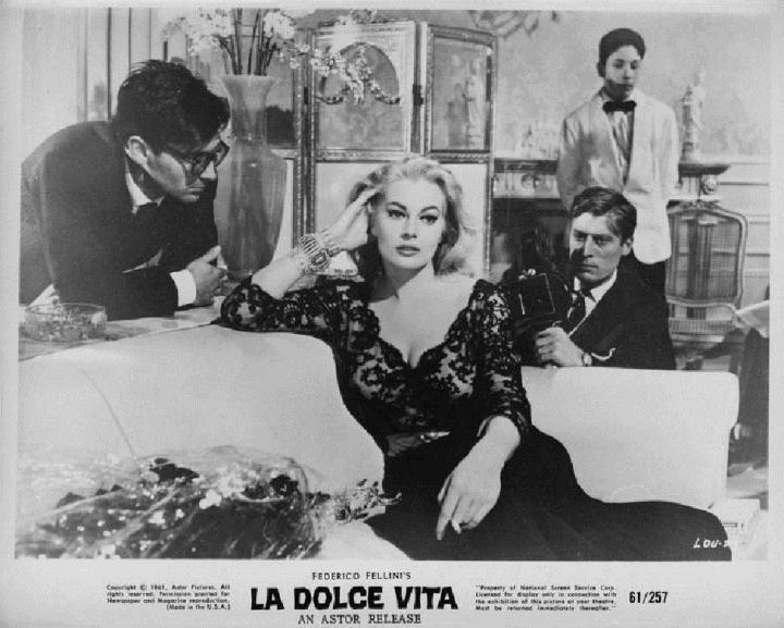 Marcello Mastroianni and Anita Ekberg in La Dolce Vita (1960)
