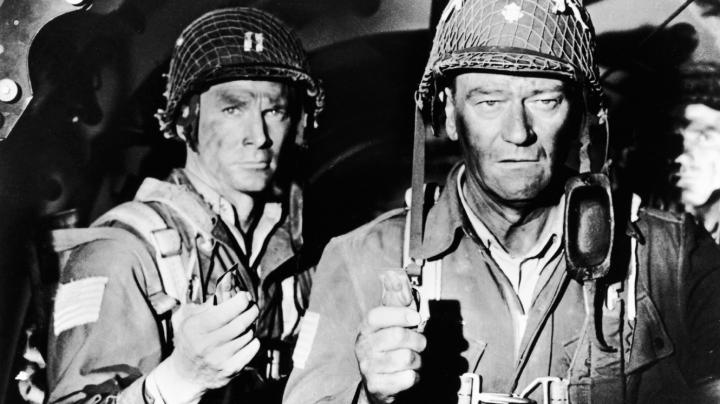 John Wayne, Steve Forrest, and Tom Tryon in The Longest Day (1962)