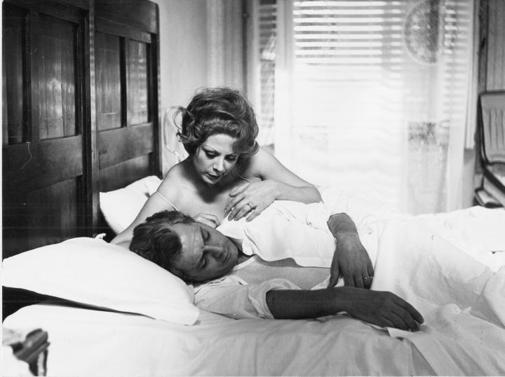 Marcello Mastroianni and Sandra Milo in 8½ (1963)