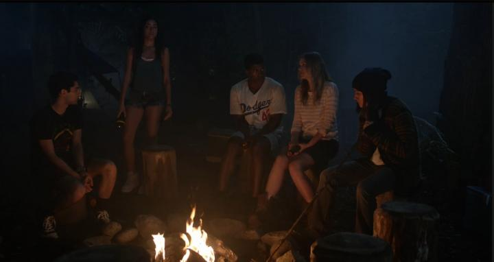 Zelda Williams, Mark Indelicato, Eli Goree, Ronen Rubinstein, Amber Coney, and Elizabeth Lail in Dead of Summer (2016)