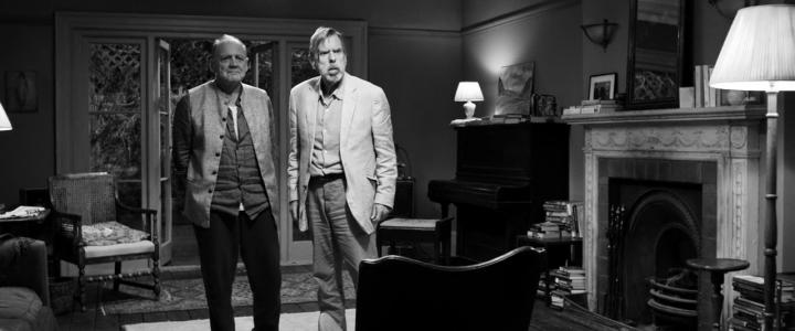 Timothy Spall and Bruno Ganz in The Party (2017)