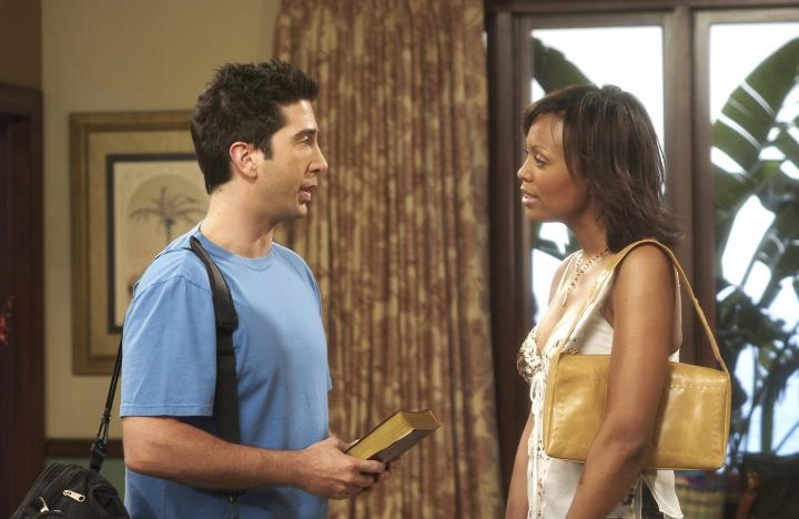David Schwimmer and Aisha Tyler in Friends (1994)