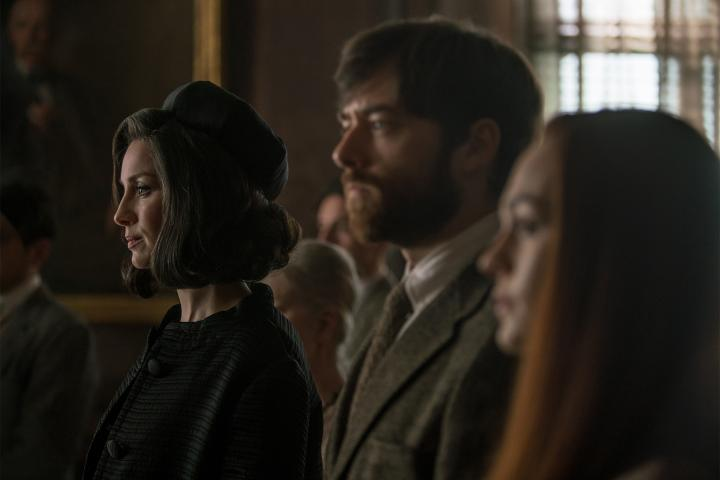 Caitriona Balfe, Richard Rankin, and Sophie Skelton in Outlander (2014)