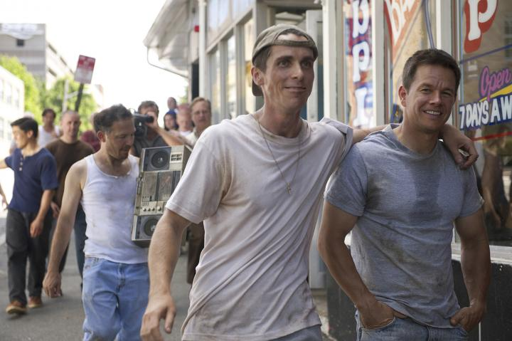 Mark Wahlberg and Christian Bale in The Fighter (2010)