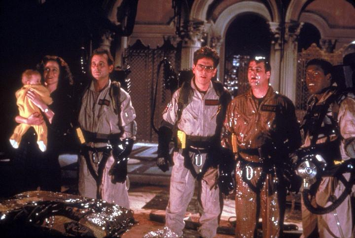Dan Aykroyd, Bill Murray, Sigourney Weaver, Harold Ramis, and Ernie Hudson in Ghostbusters II (1989)