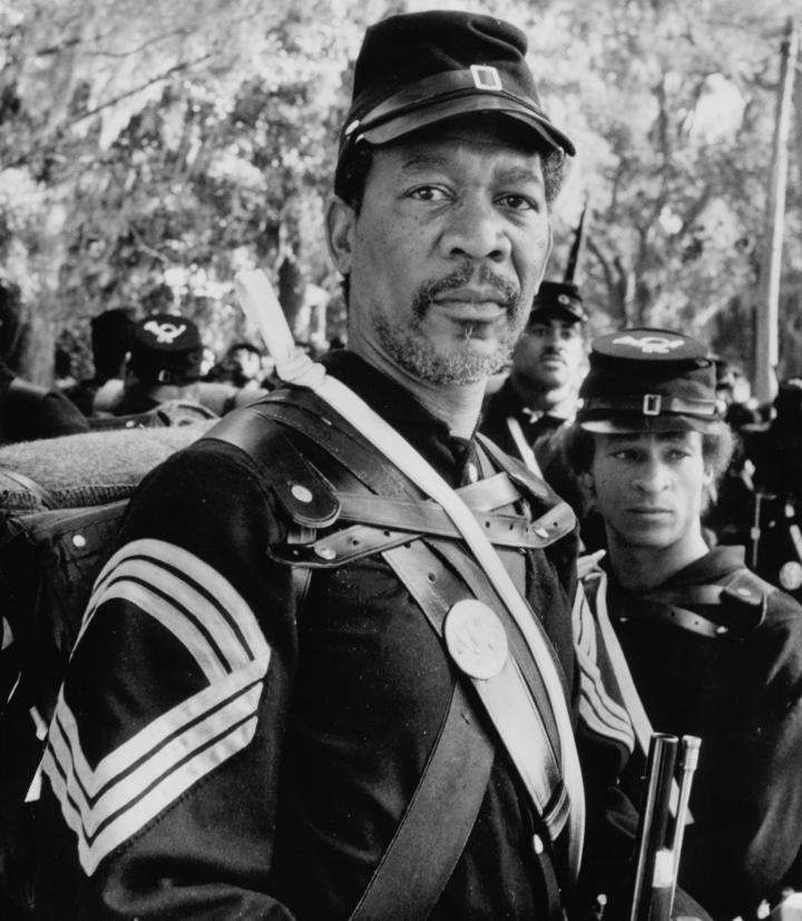 Morgan Freeman in Glory (1989)