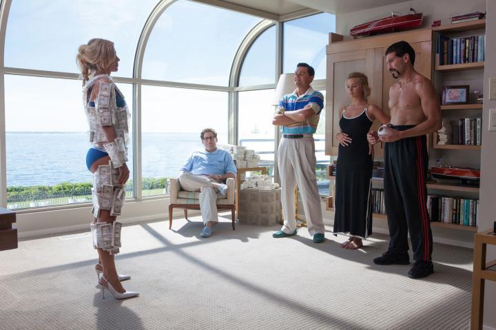 Leonardo DiCaprio, Katarina Cas, Jon Bernthal, Jonah Hill, and Margot Robbie in The Wolf of Wall Street (2013)