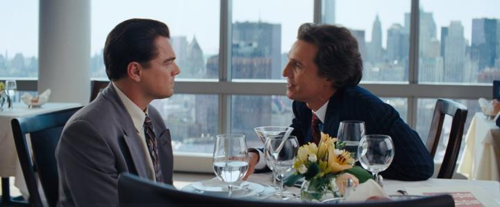 Leonardo DiCaprio and Matthew McConaughey in The Wolf of Wall Street (2013)